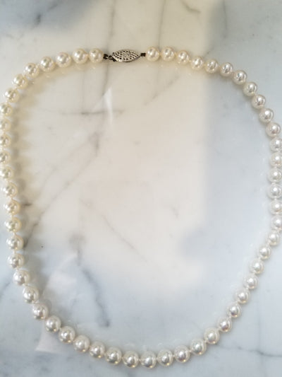 Japanese Akoya Pearl Necklace - 17""