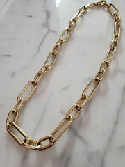 Paperclip Necklace (WIDE)