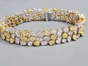 White and Yellow Diamond Bracelet