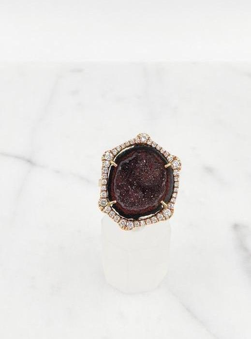 Geode Ring Plumb Diamond Ring Fashion Ring