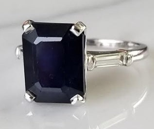 5.86ct Blue Sapphire Ring