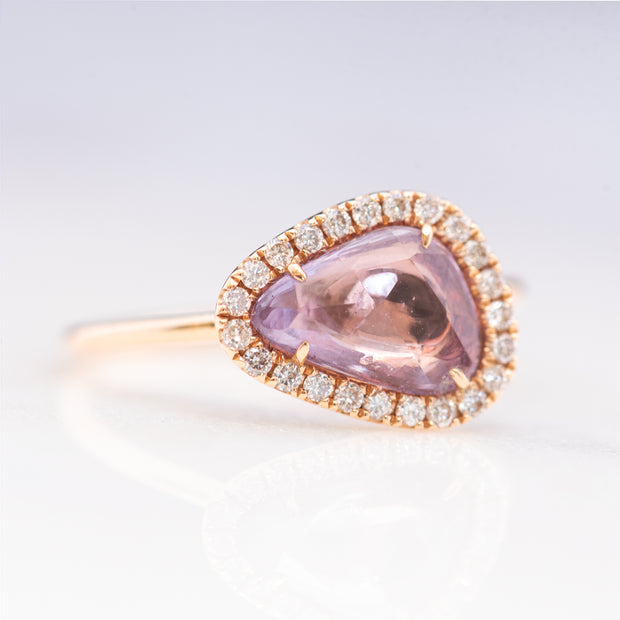 Rose Gold Pink Sapphire Ring