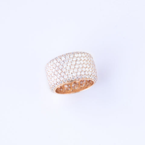 8 Row Pave Diamond Ring