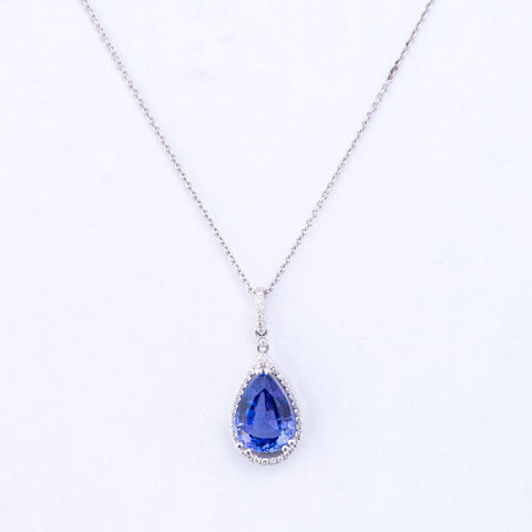 Pear Shaped Tanzanite Necklace
