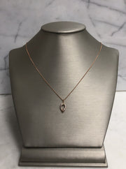 Rose Gold Diamond Drop Necklace