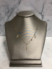 Diamond Shape Moonstone Necklace