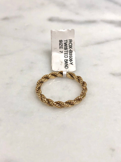 Yellow Gold Twisted Band