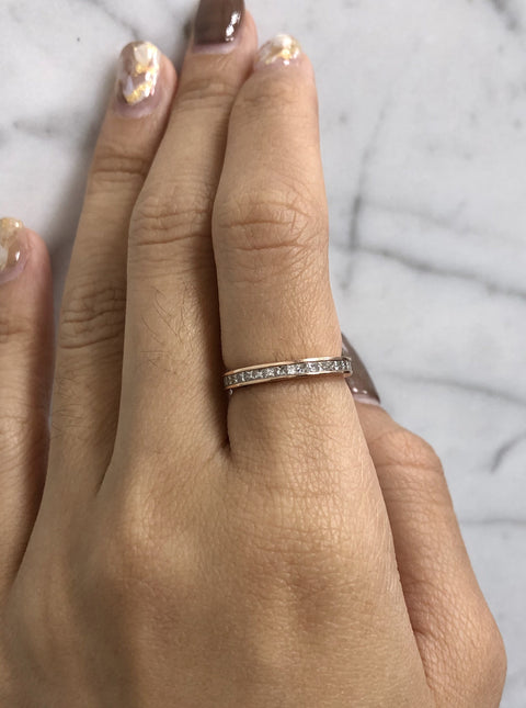 Princess Cut Diamonds Eternity Band