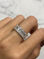Round & Baguette Eternity Band