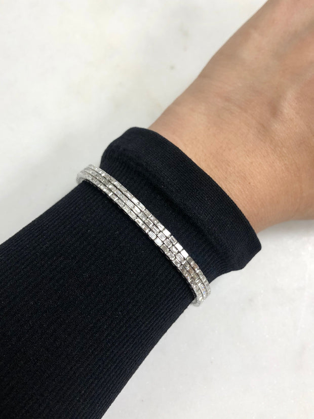 Three Row Baguette Bracelet