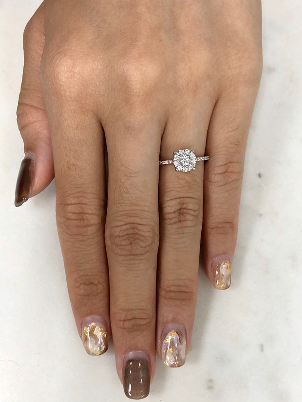 Illusion Halo Engagement Ring