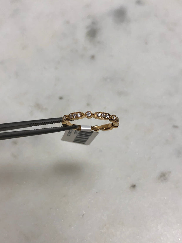 Vintage Style Diamond Band