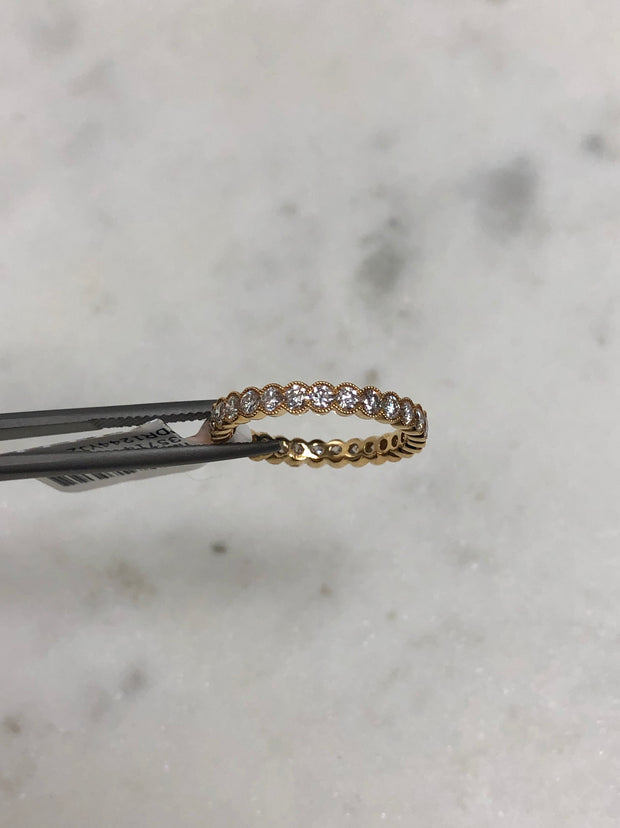 Vintage Bezel Set Diamond Eternity Band
