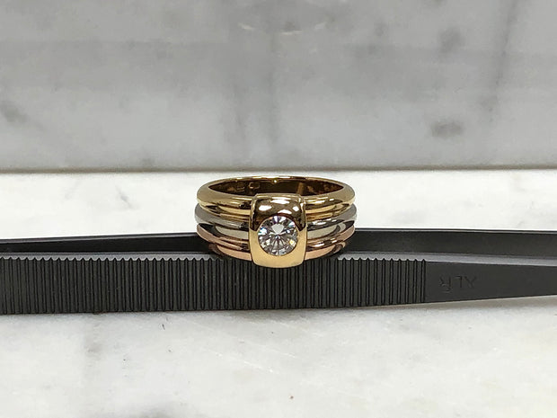 Cartier Tricolor Diamond Ring