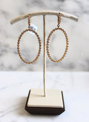 Hoop Dangling Diamond Earrings