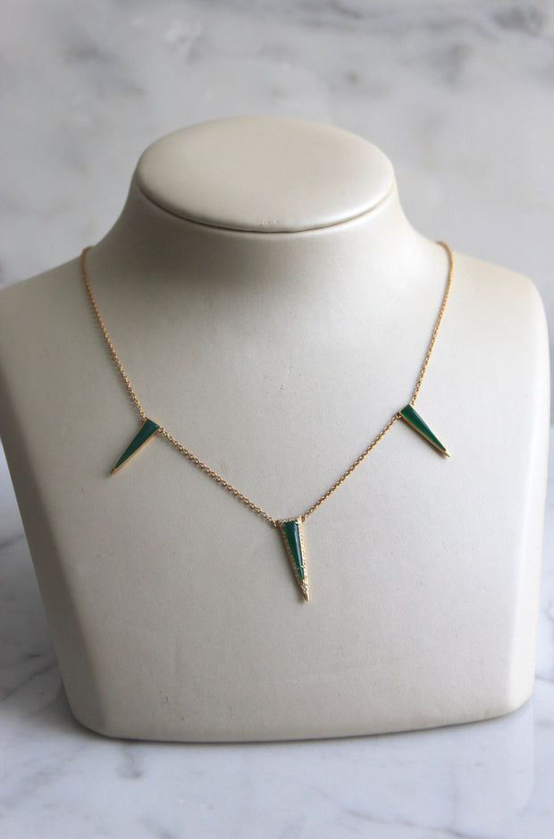 Agate Trapezoid Necklace
