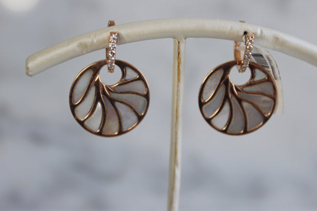 Medium Rose Gold Mother of Pearl Earrings