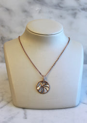 Small Rose Gold Mother Of Pearl Necklace