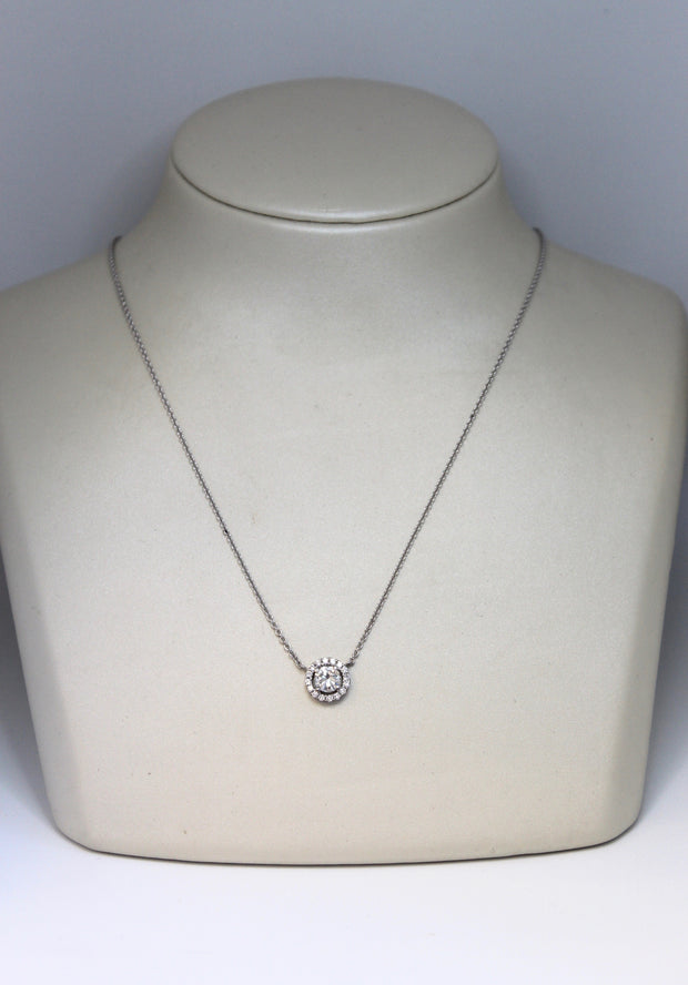 Diamond Halo Necklace