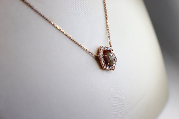 Natural Rough Diamond Necklace