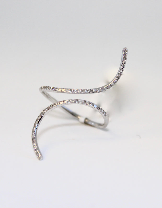 White Gold Wrap Band Ring