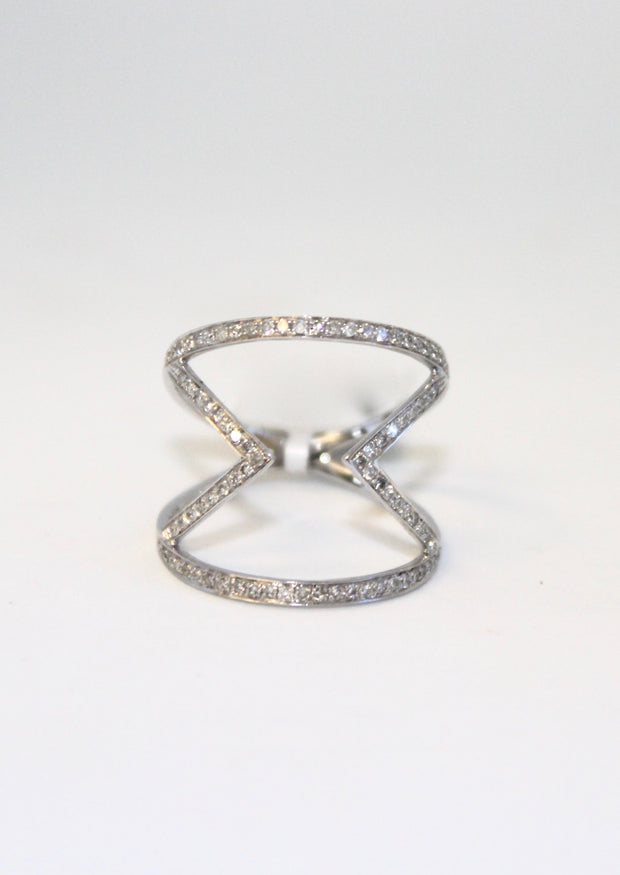 White Gold Diamond Zigzag ring
