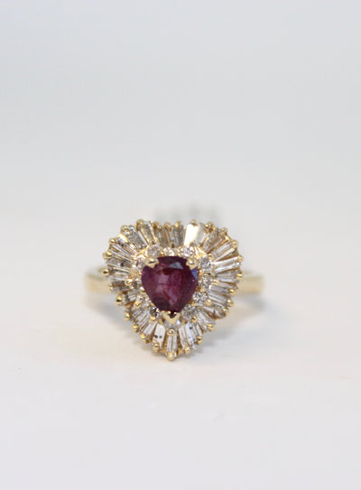 Ballerina Ruby Ring