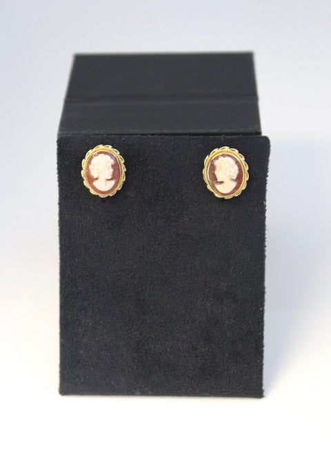Shell Cameo Earrings