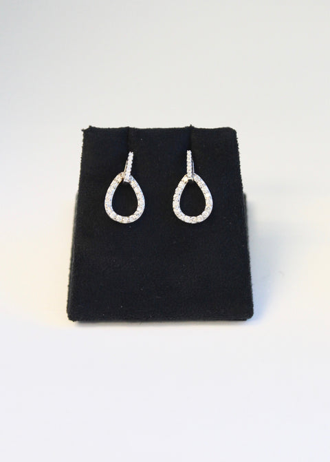 Diamond Drop Mini Hoop Earring