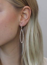 Oval Diamond Hoop Earrings