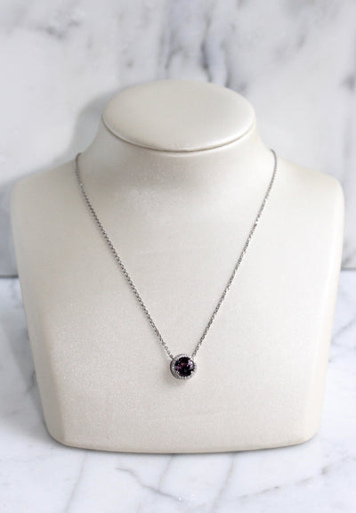Pink Tourmaline Diamond Halo Necklace