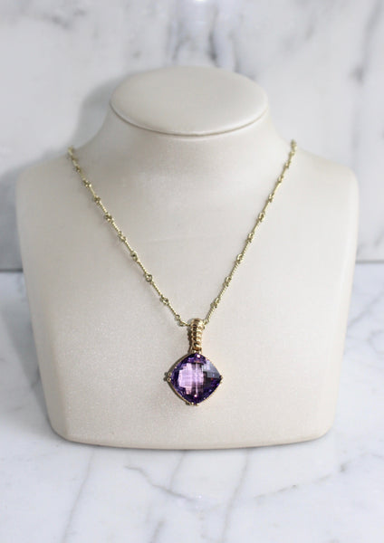 Purple Amethyst Necklace