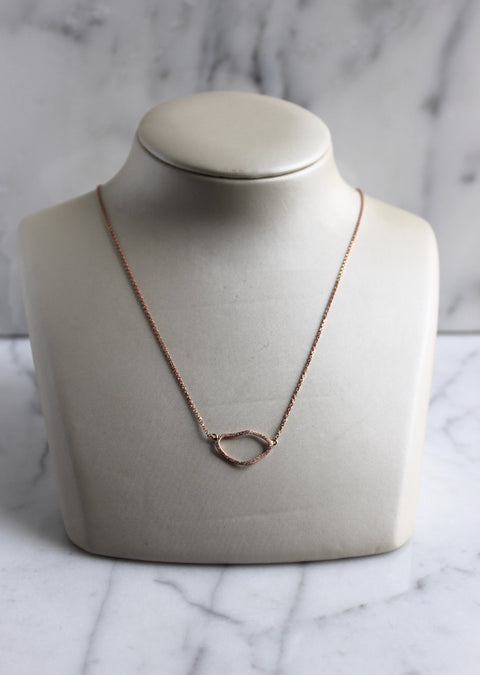 Asymmetrical Oval Necklace
