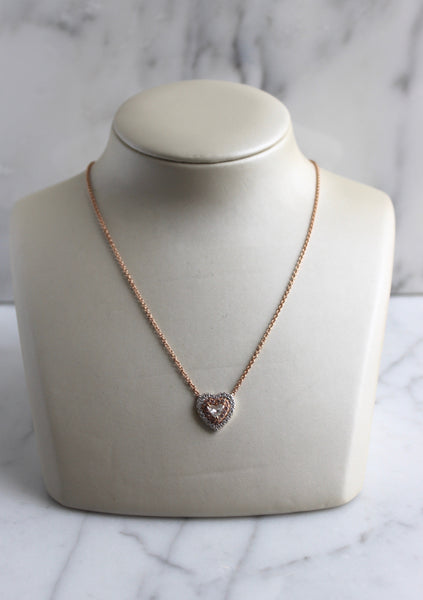 Two Toned Heart Shape Necklace
