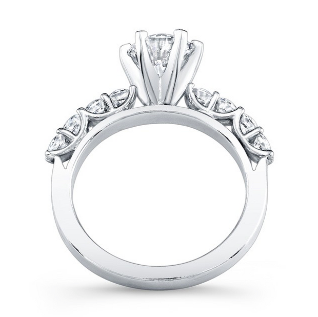 Shared-Prong Diamond Engagement Ring
