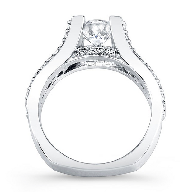 Prong Set Split Shank Diamond Engagement Ring