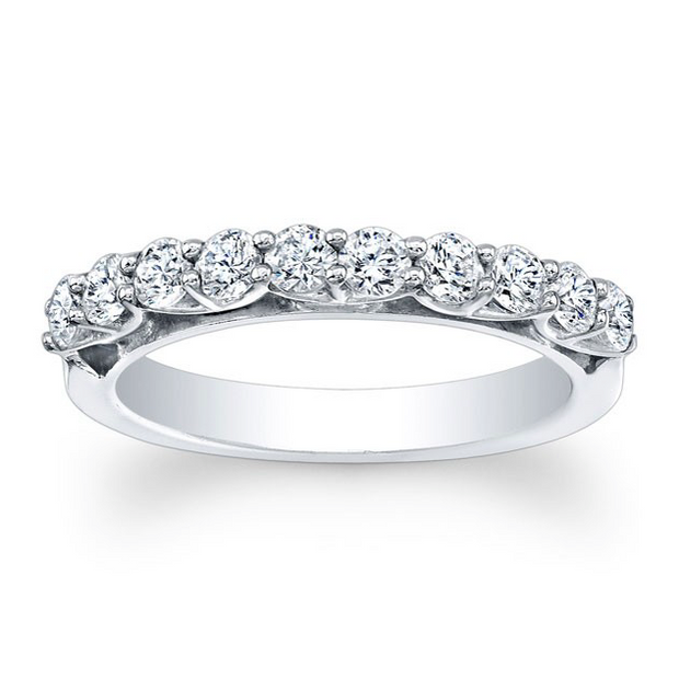 Shared-Prong Diamond Wedding Band