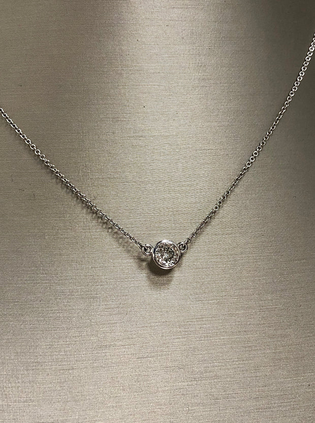 Bezel Set Diamond Necklace