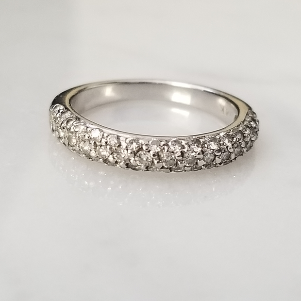 3 Row Pave Diamond Band