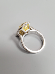 6.30ct Fancy Light Yellow Emerald Cut Diamond
