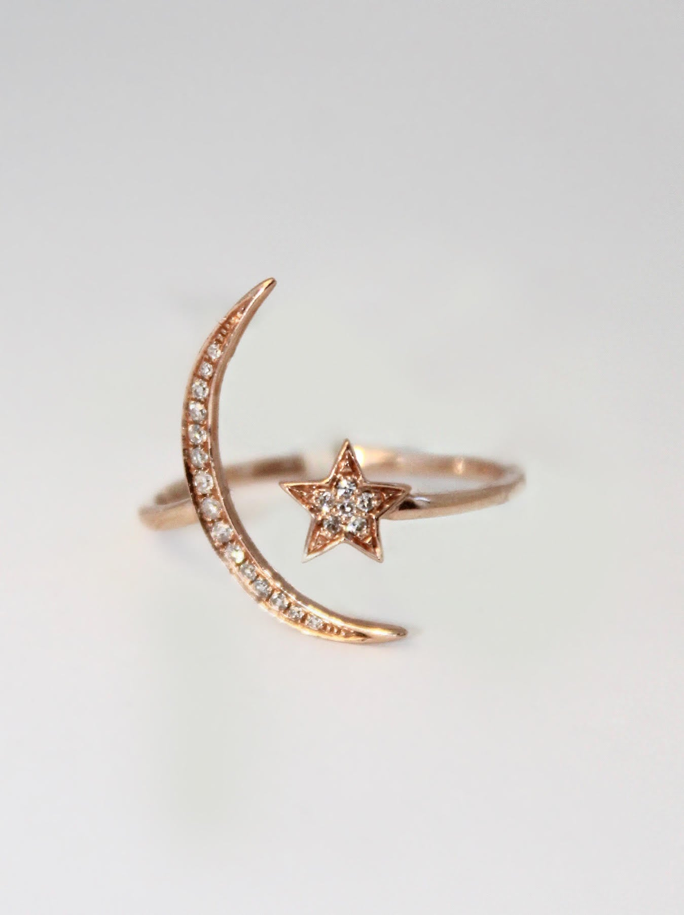 Rose Gold Moon and Star