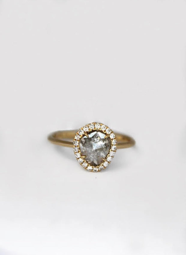 Diamond Slice Halo Ring
