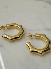 Cut Corner Hoop Earrings