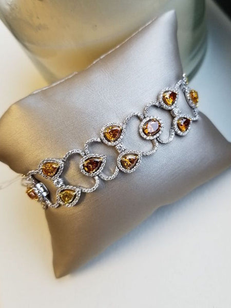 Natural Fancy Color Diamond Bracelet