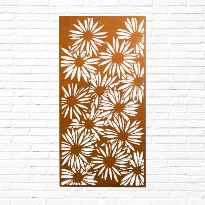 Laser Cut Panel - Daisies