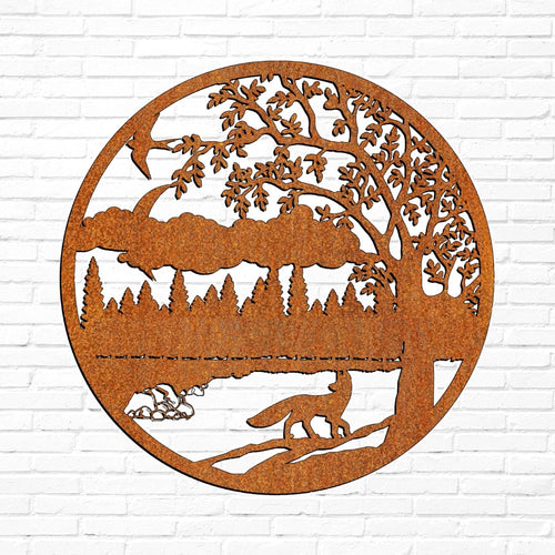 Laser Cut Wall Art - Fox In Moonlight