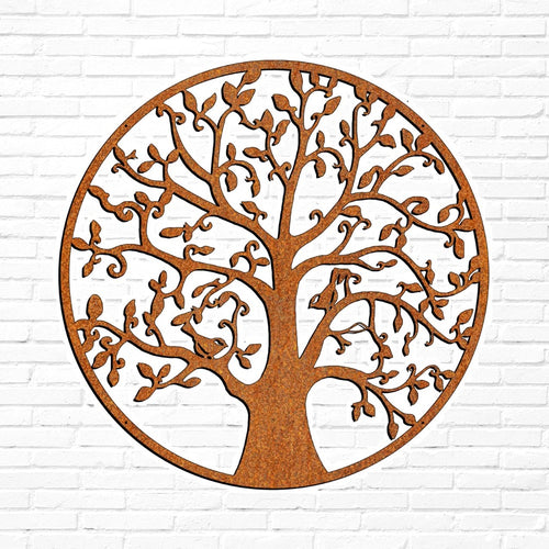 Laser Cut Wall Art - Trees & Birds