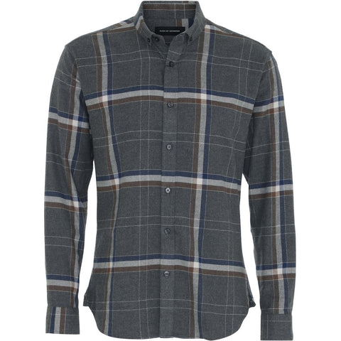 Clean Cut Copenhagen Santino shirt 3 LS Shirt L/S Grey Checked
