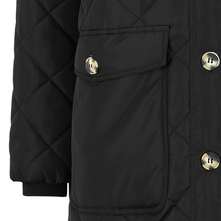 Soft Rebels SREileen LS Quilt Coat Jacket 001 Black