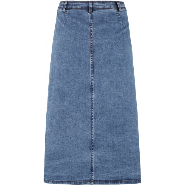 Soft Rebels SRRoxy Midi Skirt Skirt 123 Medium Blue Wash